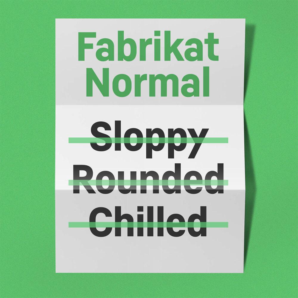 Fabrikat Normal Poster