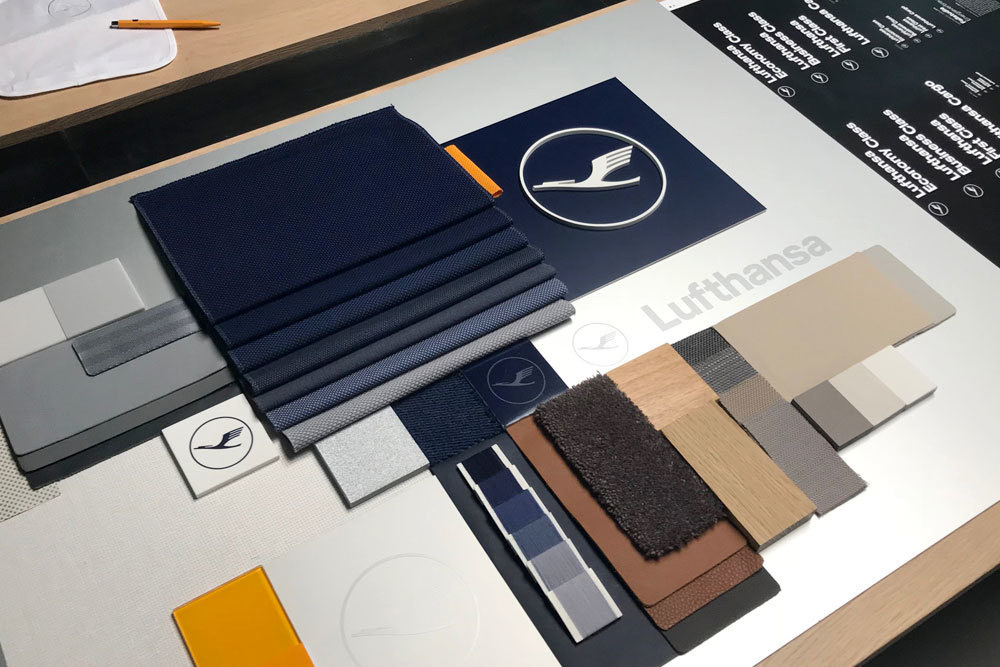 Lufthansa material mood board